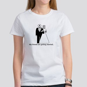 3-marriedfrontwflowersweyes T-Shirt